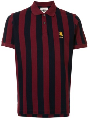 Kent & Curwen Short Sleeve Striped Pattern Polo Shirt
