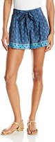 Juicy Couture Black Label Women's Sw Silk Brigitte Foulard Short