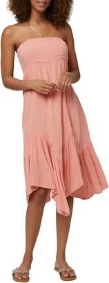 O'Neill Carolina Tube Strapless Midi Dress