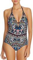 Laundry by Shelli Segal Folk Art Halter One Piece Swimsuit