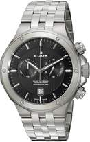 Edox Men's 'Delfin' Quartz Stainless Steel Dress Watch, Color:Silver-Toned (Model: 10110 3M NIN)