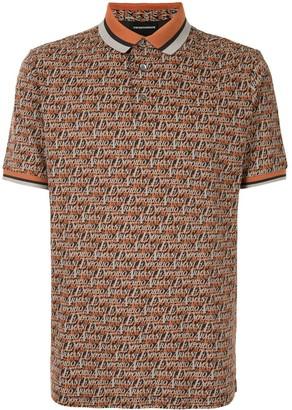 Emporio Armani All-Over Logo Polo Shirt
