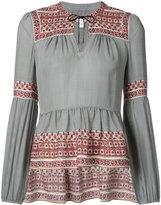 Veronica Beard peplum boho blouse - women - Silk - 4