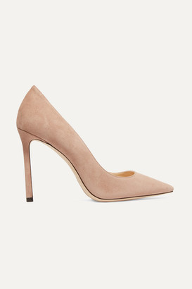 Jimmy Choo Romy 100 Suede Pumps - Neutral