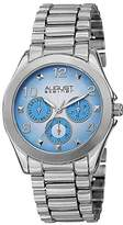 August Steiner Women's AS8150SS Silver Multifunction Quartz Watch with Blue Dial and Silver Bracelet