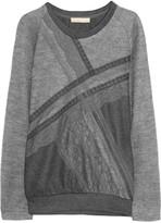 Vanessa Bruno Lace-appliquéd wool sweater