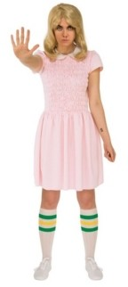 BuySeasons Women's Stranger Things Eleven's Short Sleeve Adult Dress