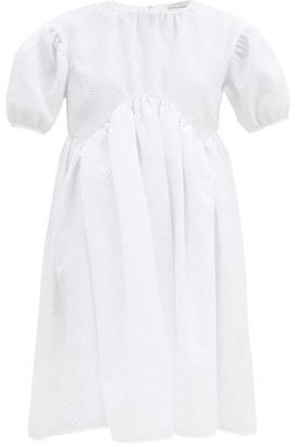 Cecilie Bahnsen Thelma Puff-sleeve Cloque Mini Dress - White