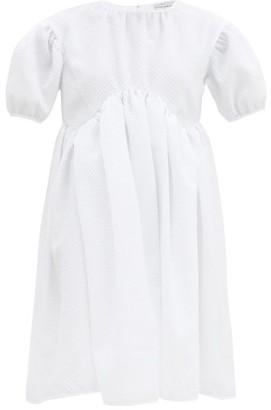 Cecilie Bahnsen Thelma Puff-sleeve Cloque Mini Dress - White