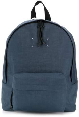 Maison Margiela signature white stitch backpack