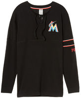 PINK Miami Marlins Bling Lace-up Varsity Crew