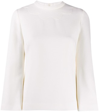 Goat Jojo scalloped detail top
