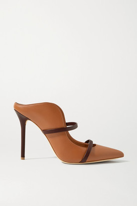 Malone Souliers Maureen 100 Leather Mules - Brown