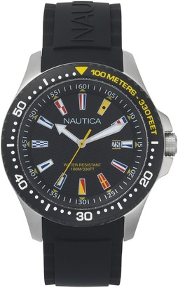 Nautica Men's Analogue Quartz Watch with Silicone Strap NAPJBC003