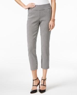 Alfani Petite Printed Cropped Pants, Created for Macy's