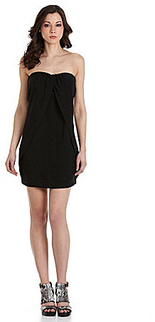 BB Dakota Jessica Strapless Chiffon Dress