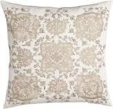 "Callisto Home Avalon Square Pillow with Cream Ground, 22""Sq."