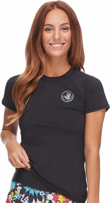 Body Glove Women's Motion Short Sleeve Rashguard with UPF 50 Rash Guard Shirt