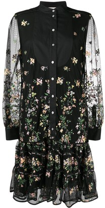 Tory Burch Embroidered Floral Shirt Dress