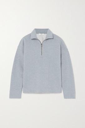 Vince Melange Cotton-blend Jersey Sweatshirt - Blue