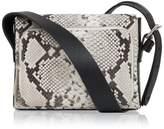 Amanda Wakeley Python Leather Mini Nicholson Crossbody Bag