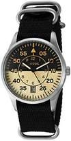 Fossil Mens FS5248 Vintage 54 Aviator Three-Hand Date Black Polyester Watch