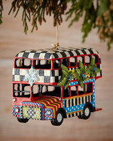 Mackenzie Childs MacKenzie-Childs Double Decker Bus Christmas Ornament