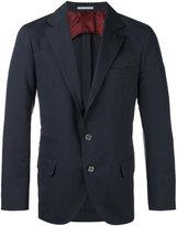 Brunello Cucinelli three-button suit jacket - men - Silk/Cotton/Cupro - 48