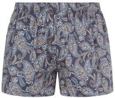 Hanro Woven Paisley Print & Block Colour Boxers (pack Of 2)