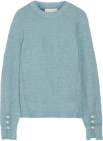 3.1 Phillip Lim Faux Pearl-embellished Knitted Sweater - Light blue