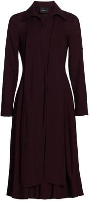Akris Collared Wool Scarf Dress