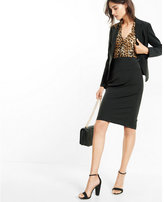 Express stretch lace-up back pencil skirt