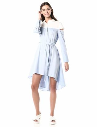 BCBGMAXAZRIA Azria Women's Leandra Color-Blocked High-Low Dress