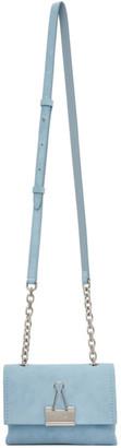 Off-White Blue Small Soft Velour Bag