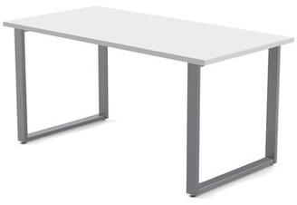 """Red Barrel Studio Wickstrom 60 Wide Desk Red Barrel Studio Color: Designer White Laminate / Silver Finish, Size: 29"""" H x 60"""" W x 24"""" D"""