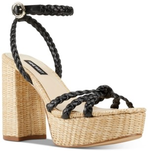 Nine West Rylin Espadrille Platform Sandals Women's Shoes
