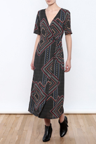 Babel Fair Midi Wrap Dress