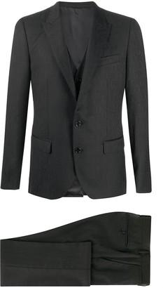 Dolce & Gabbana Three-Piece Jacquard Suit