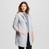 Women's Hooded Car Coat Cardigan - Merona