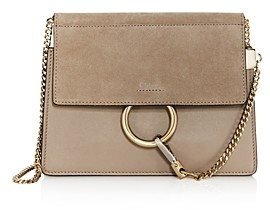 Chloé Faye Small Leather & Suede Crossbody