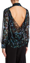 Haute Hippie Cowl Back Button Down Silk Blouse