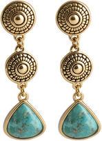 Barse FINE JEWELRY Art Smith by Turquoise 3-Drop Triangle Earrings