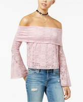 American Rag Juniors' Lace Off-The-Shopulder Crop Top, Created for Macy's
