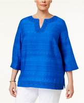 Alfred Dunner Plus Size Corsica Collection Textured Tunic