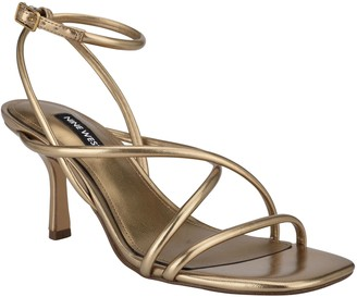 Nine West Heeled Strappy Sandals - Nolan Leather