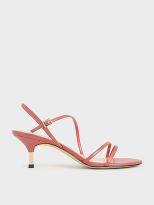 Charles & Keith Strappy Metallic Heel Sandals