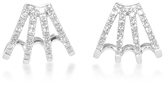 Ef Collection 14K White Gold Diamond Huggie Earrings