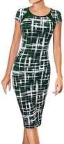 LUNAJANY Women's Summer Casual Striped Print Wear to Work Sheath Dress