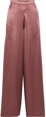 Cushnie Nelle Split-side Silk-satin Wide-leg Pants
