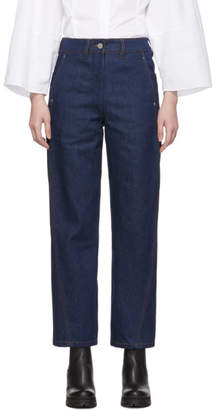 Lemaire Indigo Twisted Jeans